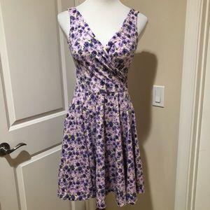 Betsey Johnson Fit & Flare Floral Skater Dress